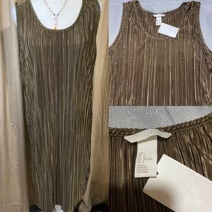 H & M metallic ribbed dress size L